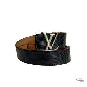 Authentic Louis Vuitton Epi LV Initials Belt 80/32